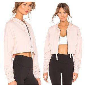Alo Extreme Crop Sweatshirt Jacket Light Pink